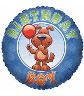 "18"" Birthday Boy Laughing Dog"
