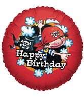 "18"" Birthday Pirate Boy Mylar Balloon"