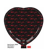 "18"" Black Love Balloons"