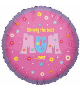 "18"" Simply The Best Mum Ever Balloon"