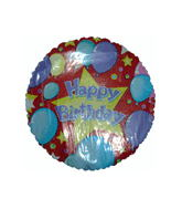 "9"" Airfill Only Happy Birthday Celebration Balloon"
