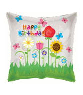 "9"" Airfill Birthday Flower Garden Square Clear"