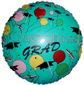 "18"" Congratualtions Grad Balloon (Very Damaged Print)"