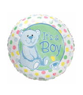 "18"" Darlin Dots It�S A Boy With Blue Bear"