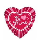"9"" Airfill Be Mine Radiating Strips Balloon"