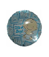 "9"" It&#39S A Boy Balloon Happy Baby"