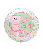 "18"" Darlin Dots It�S A Girl With Pink Bear"