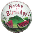 "18"" Happy Birthday Watermelon Balloon"