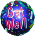 "18"" Get Well Bandaid Purple Balloon (Slightly Damaged Print)"