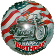 "18"" Happy Birthday Motorcycle"