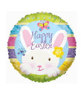 "18"" Happy Easter White Bunny Balloon"