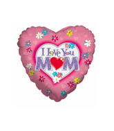 "4"" Airfill I Love You Mom Balloon"