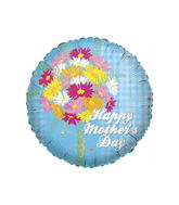 "18"" Happy Mother&#39s Day Blue Checkers"