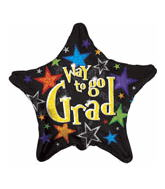 "18"" Way To Go Grad Prismatic Star"