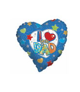 "18"" I Love You Dad Stars & Hearts Balloon"