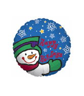 "18"" Happy Holidays Jolly Snowman"