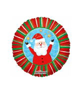 "9"" Airfilll Only Santa Clause Balloon"