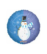 "18"" Happy Snowman Winter Theme No Message"