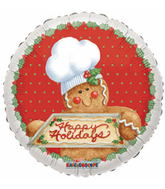 "9"" Airfill Happy Holidays Gingerbread Cookie"