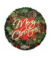 "18"" Merry Christmas Wreath Border"