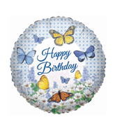 "18"" Happy Birthday Butterfly Meadow"
