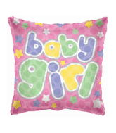 "18"" Baby Girl Dots Square Shape"
