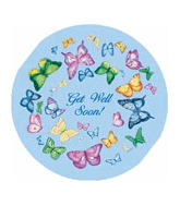 "18"" Get Well Soon Butterflies All Over"