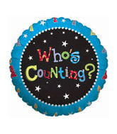 "18"" Who&#39s Counting Blue Border"