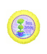 "18"" Happy Birthday Joshua 24:15 Religious Balloon"