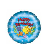 "18"" Happy Birthday Fishy Fun Balloon"