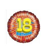 "18"" Age 18th Birthday Starburst Balloon"