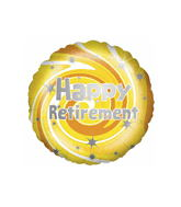 "18"" Happy Retirement Swirls Balloon"