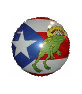 "18"" Puerto Rican Flag With Flog"
