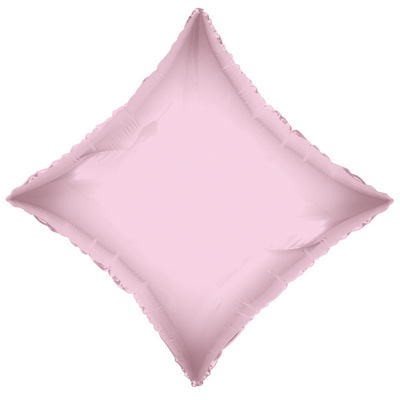 "21"" Solid Diamond Light Pink Brand Convergram Balloon"