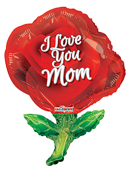 "36"" Mother's Red Rose Shape Balloon"