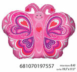 "18"" Balloon I Love You Prismatic Butterfly"
