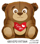 "18"" Balloon I Love You Teddy Bear"