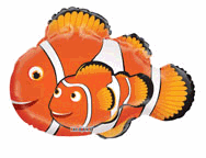 "28"" Jumbo Balloon Clown Fish Shape"