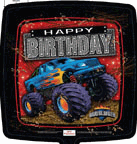 "18"" Balloon Happy Birthday Mudslinger"