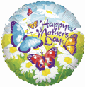 "18"" Balloon Mother&#39s Day Field Of Butterflies"