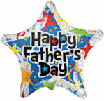 "18"" Balloon Happy Father&#39s Day Prismatic Stars"