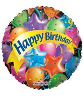 "36"" Festive Balloons Happy Birthday Balloon"