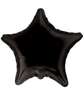 "4"" Star Black Brand Convergram Balloon"