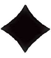 "21"" Solid Diamond Black Brand Convergram Balloon"
