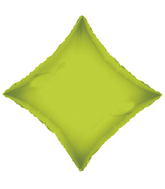 "21"" Solid Diamond Lime Green Brand Convergram Balloon"