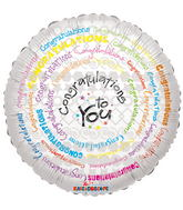"18"" Congratulations To You Spiral"