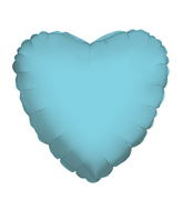 "18"" Solid Heart Baby Blue Brand Convergram Balloon"