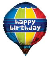 "24"" Happy Birthday Hot Air Balloon Balloon"