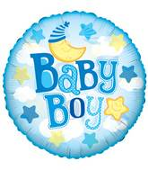 "24"" Baby Boy Moon Clear View Balloon"