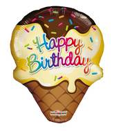 "14"" Airfill Only Ice Cream Mini Happy Birthday"